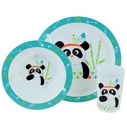 Lunchdoos India Panda - 3 stukken