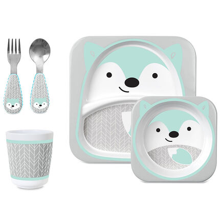 Set repas Zoo Winter - Renard bleu