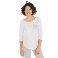 Zwangerschapsshirt met driekwartmouwen en zak.