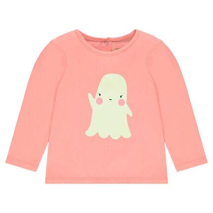 Tee-shirt spécial Halloween avec print fantôme phosphorescent