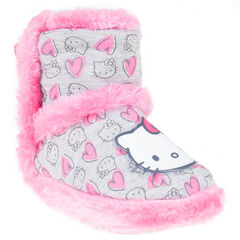 Chaussons bottines Hello Kitty avec fausse fourrure