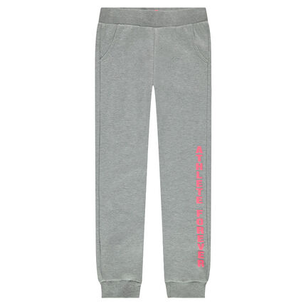 Pantalon de jogging en molleton avec inscription printée