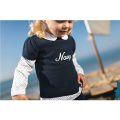 Chemise manches longues effet 2 en 1 avec pull en tricot manches courtes