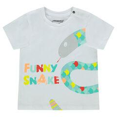 T-shirt met korte mouwen en dierenprint