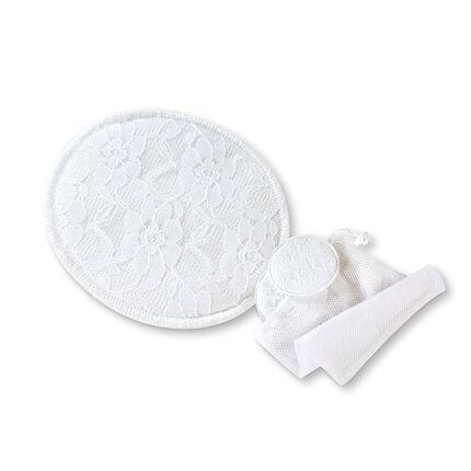 Lot de 6 coussinets d'allaitement lavables - Blanc