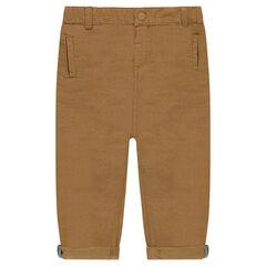 Pantalon chino en coton ottoman