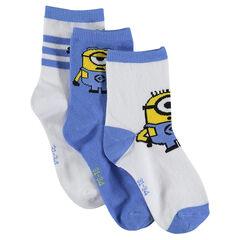 Lot de 3 paires de chaussettes assorties motif Les Minions