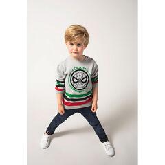 Pull en tricot à bandes contrastées et print ©Marvel Spiderman