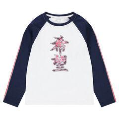 Junior - Tee-shirt manches longues en jersey avec signes chinois printés