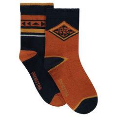 Lot de 2 paires de chaussettes à motifs fantaisie