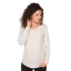 Pull de grossesse uni en tricot doux , Prémaman