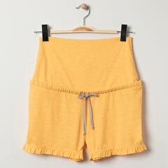 Short homewear de grossesse jaune à bandeau haut , Prémaman