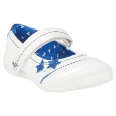Babies blanches avec patchs étoiles - Lulu Castagnette