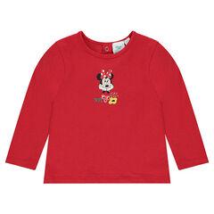 T-shirt met lange mouwen met print van Disney's Minnie