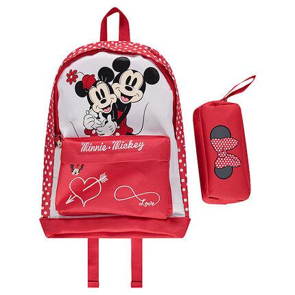 Sac à dos et trousse ©Disney Minnie et Mickey