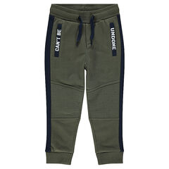 Pantalon de jogging en molleton avec découpes et poches printées