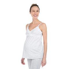 Homewear zwangerschapstanktop van biokatoen met kant