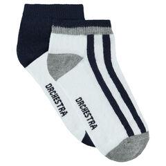 Set met 2 paar bijpassende lage sokken
