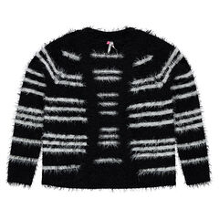 Junior - Gilet rayé en tricot effet fourrure