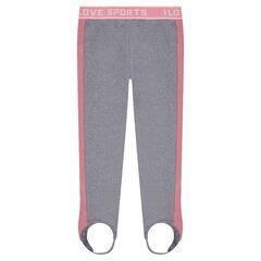 Sportieve legging met contrasterende banden en elastische riem