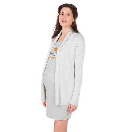 Gilet de grossesse homewear en tricot chiné