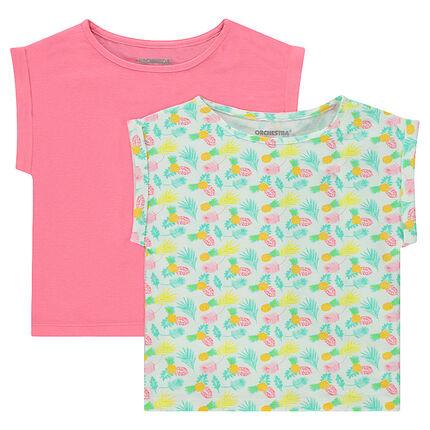 Junior - Set van 2 T-shirts met korte mouwen van jerseystof en met rechte snit