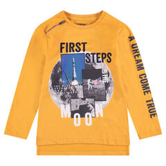 Junior - Tee-shirt manches longues avec paysage lunaire printé et zip