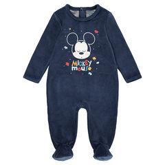 Fluwelen pyjama met print ©Disney Mickey