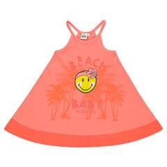 Robe d'été à bretelles print Smiley