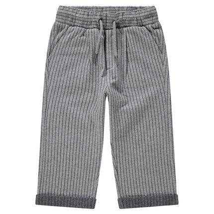 Pantalon de jogging à fines rayures verticales