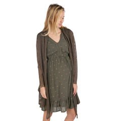 Zwangerschapsvest van tricot met koperen draad