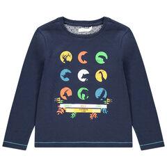 T-shirt met lange mouwen van jerseystof met print met dieren
