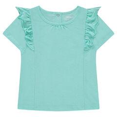 Tee-shirt manches courtes en jersey avec volants