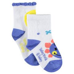 Set met 2 paar matching sokken met ©Smiley-motief