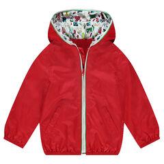 Coupe-vent à capuche uni doublé jersey