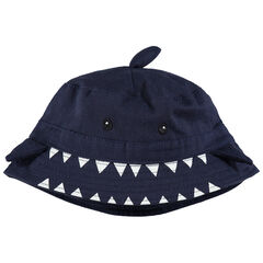 Twill haaienmuts met vinnen in reliëf