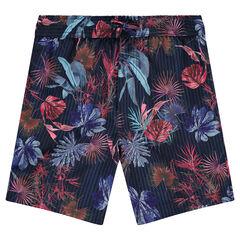 Zwemshort met tropische print