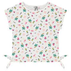 Junior - T-shirt met korte mouwen en fantasieprints uit slub jerseystof