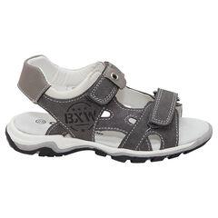 Sandalen met riemen met klittenbandsluiting en print met opschrift van maat 28 tot 35