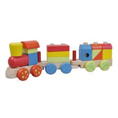 Houten trein - Meerkleurig