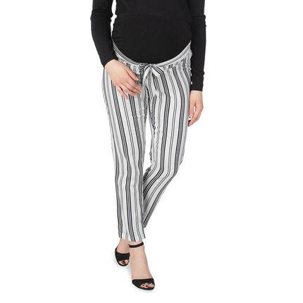 Pantalon de grossesse 7/8ème à rayures verticales