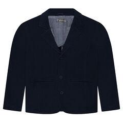 Junior - Blazer en jersey lourd avec doublure rayée