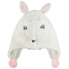 Bonnet péruvien doublé jersey avec oreilles de lapin
