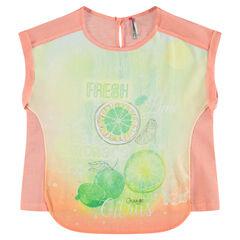 Junior - Tee-shirt manches courtes coupe asymétrique print fruits