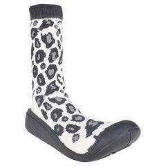 Pantoffels met luipaard in rubber