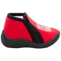 Rode pantoffellaarsjes met badge van Mickey Disney van maat 19 tot 25