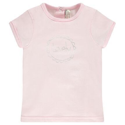 Tee-shirt naissance en jersey de coton avec inscription fantaisie