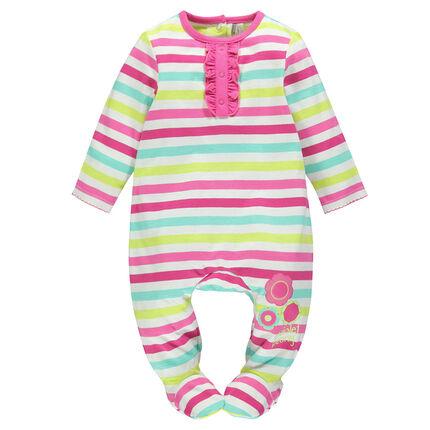 Pyjama lange mouwen met strepen