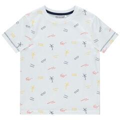 T-shirt manches courtes en coton bio à imprimé fantaisie all-over , Orchestra