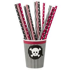 x 20 pailles Pirate en plastique